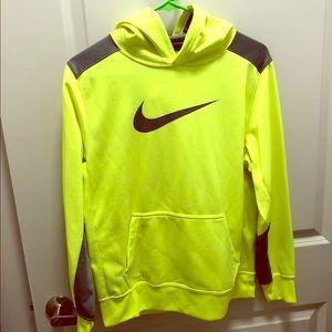 Boys Nike Neon Green hoodie - Size XL